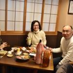今日は日本酒で乾杯