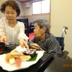 お母さんどうぞと娘さまより♡お寿司と天ぷらたくさん食べて長生きしてね!