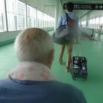秋田空港到着でドキドキ